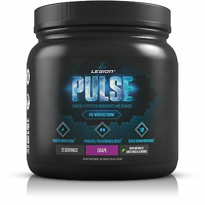 LEGION Pulse - Best Natural Pre Workout Supplement for Women