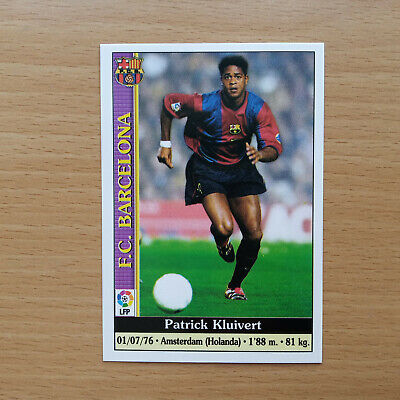 KLUIVERT FC BARCELONA 17# CARD MUNDICROMO 1999 2000 LA LIGA 99 00...