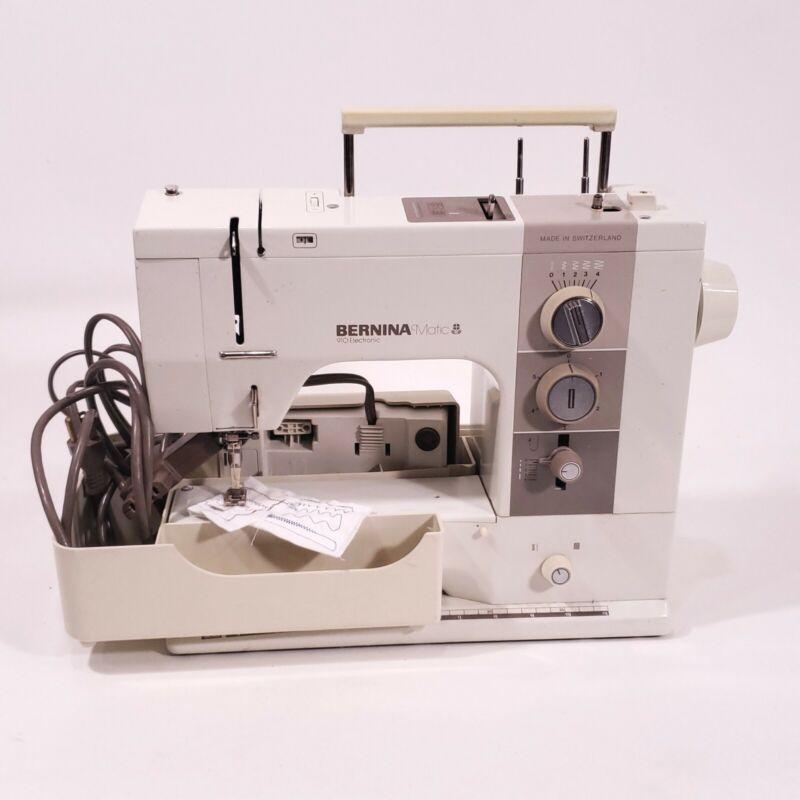 Bernina Matic 910 Sewing Machine w Case And Foot Control