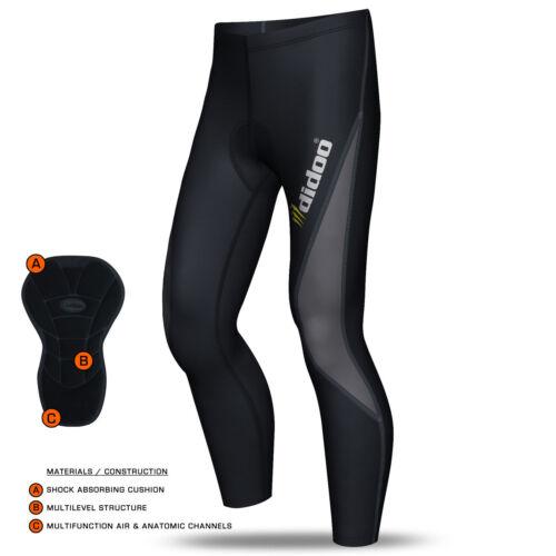 Mens Thermal Calzamaglia da ciclismo per imbottiti Pantaloni BICICLETTA LUNGO