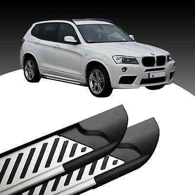 Alu Trittbretter Schweller für BMW X3 F25 E83 Seitenschweller Seitenbretter