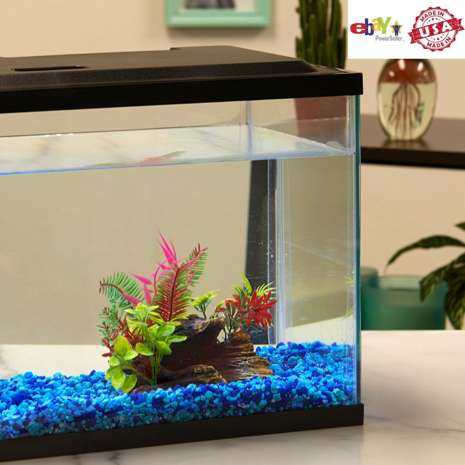 10 Gallon Aquarium Hood Fish Tank Top Lid With LED Light NEW US, FAST DELIVERY