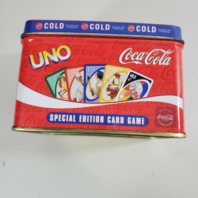 UNO Special Edition Coca Cola Cards. Pin up girls featured