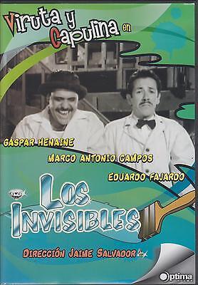 Los Invisibles DVD NEW Viruta Y Capulina Cine Mexicano Clasico !