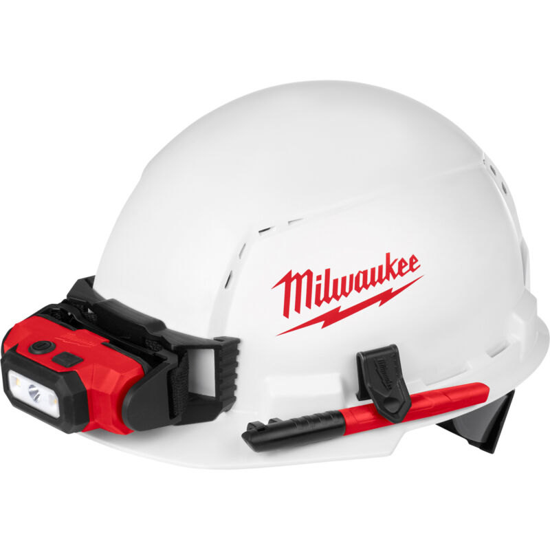 Milwaukee Front Vent Hard Hat w/4-Point Ratchet Suspension & BOLT Access