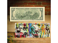 MIND SPRAY CANS Signed by RENCY Genuine $2 Bill S//N # of 200 Life is Beautiful