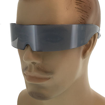 Mirrored Cyclops Futuristic Robocop Alien Sun Glasses Party Club Super (Cyclops Shades)