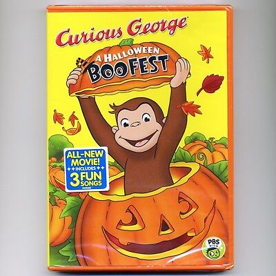 Curious George: A Halloween Boo Fest children educational cartoons, new DVD - Curious George Halloween Boo
