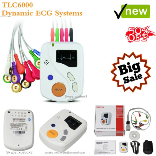 TLC6000 EKG-Holter 48 Stunden Dynamisches 12-Kanal-EKG-Gerät, Analyse software