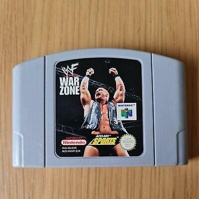 WWF WARZONE NINTENDO 64 N64 PAL GAME CARTRIDGE ONLY FREE P&P