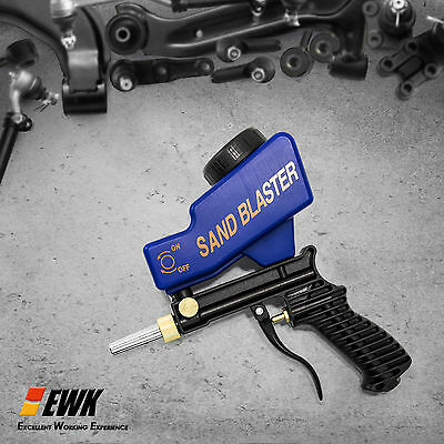 Gravity Feed Portable Sandblasting Gun for remove spot rust w/ free tip