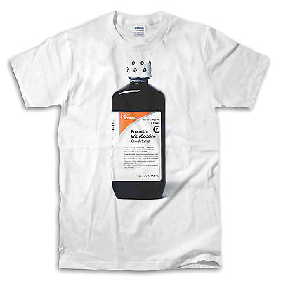 Lean Actavis Bottle White T Shirt   Ships Fast  High Quality