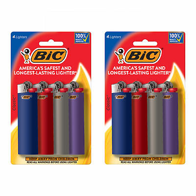 BIC Classic Lighter, Assorted Colors, 8-Pack (colors and packaging may vary)