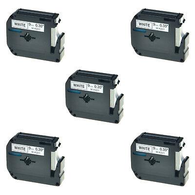 5pk For Brother P-touch Pt-45m Pt-80 Pt-90 M-221 Mk221 Black On White Label Tape