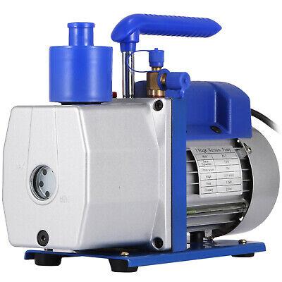 Single Stage Vacuum Pump 7CFM 1/2HP Rotary Vane VEVOR AC Black/Silver 198L/MIN