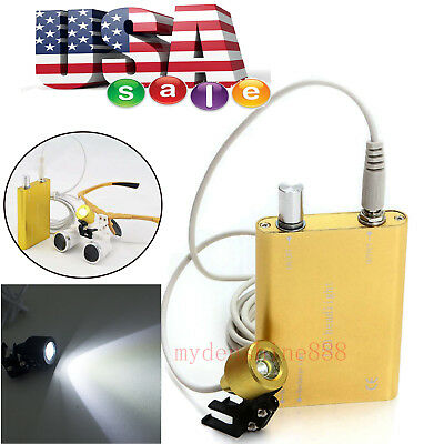 Portable Led Head Light Lamp For Dental Surgical Medical Binocular Loupes Loupe
