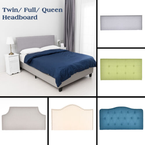 twin full queen size linen fabric tufted