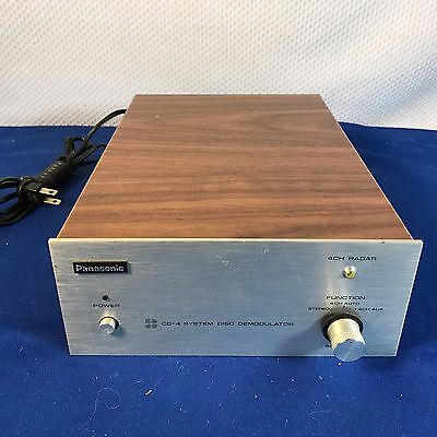 PANASONIC SE-405 HIGH FIDELITY CD-4 DISC SYSTEM DEMODULATOR ASIS NOT TESTED