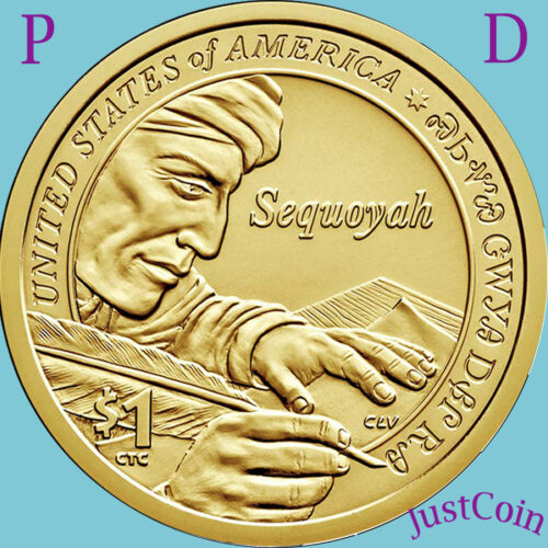 2017 P&D SET NATIVE AMERICAN SACAGAWEA DOLLARS FROM MINT ROLLS UNCIRCULATED