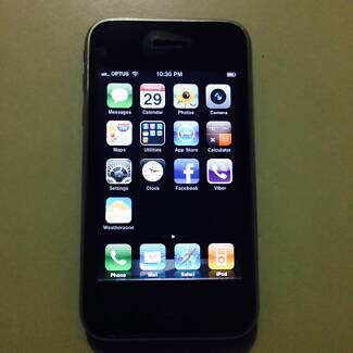 Iphone 3g Black Unlocked 8gb Very Good Condition for Sale or Swap Deer Park Brimbank Area Preview