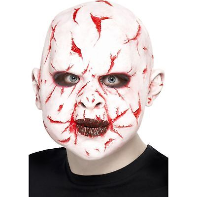White Scarface Horror Latex Halloween Mask Adults Mens Fancy Dress - Scarface Halloween Mask