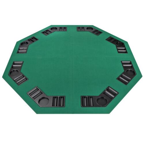 Four Fold 8 Player 48″ Poker Table Top Velvet W/Bag Portable Green Party Game Casino