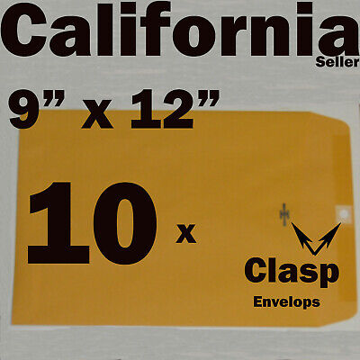 10 Manila 9 X 12 Clasp Kraft Catalog Mailing Envelopes Brown 9 Self Seal 9x12