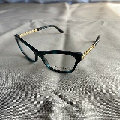 Authentic Versace Glasses Mod. 3214 5076 Green Tortoise 54mm Eyeglasses