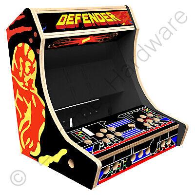 "BitCade 2 Player 19"" Bartop Arcade Cabinet Machine with Defender Artwork"