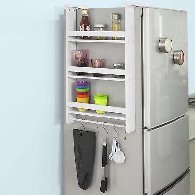 SoBuy® Hängeregal für Kühlschrank mit 5 Haken,Türregal,Küchenschrank, FRG150-W
