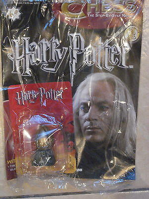 BNIB HARRY POTTER CHESS MAGAZINE NO.69 WITH THE THE GLOWING BLACK PAWN