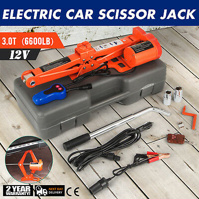 3 Ton Automotive Electric Scissor Car Jack Lift Repair Garage 12V