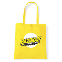 Art T-shirt, Borsa Bazinga, Giallo Shopper, Mare Giallo-  - ebay.it
