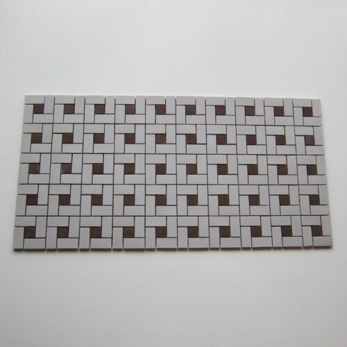 Vintage Porcelain 1950s Floor Tile, 400 Sq Ft Available, Made in Japan