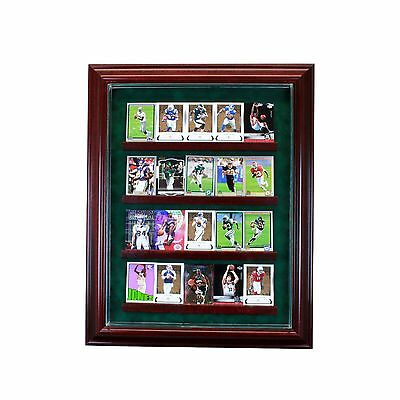 20 Trading Baseball Card Cabinet Style Display Case Hinged Door Glass Suede MLB Baseball Cabinet Style Display Case