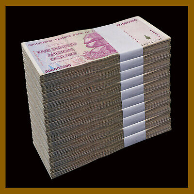 2008 AA//AB USED Zimbabwe 10 Billion Dollars x 10 Pcs 50 100 trillion Series