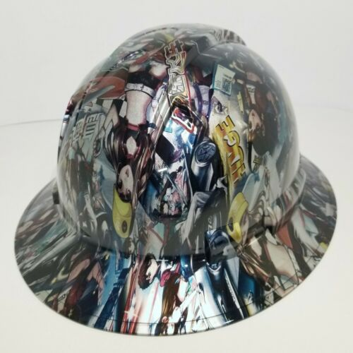 FULL BRIM Hard Hat custom hydro dipped, NEW JAPANESE ANIME SPEED RACER GIRLS 2