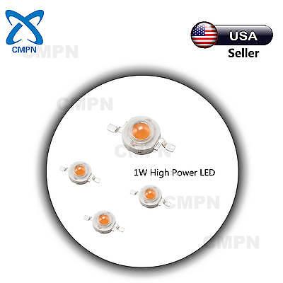 10pcs 1w High Power Full Spectrum Bulb 380-840nm Plant Grow Light Led Smd Chip