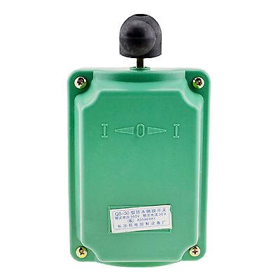 Qs-30 Ac 380v 30a 3 Position Rain Proof Forward Reversing Motor Drum Switch