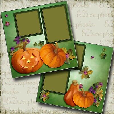 PUMPKINS - Halloween - 2 Premade Scrapbook Pages - EZ Layout 4120](Halloween Scrapbooking Layouts)