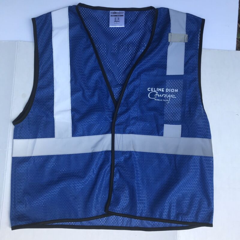Celine Dion 2019 Courage Tour Local Crew ML-Kishigo Safety Vest L-XL Blue New