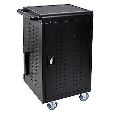 Luxor Tablet / Chromebook Charging Cart, Capacity 30 Tablets, Black LLTM30-B New