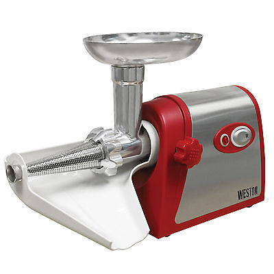 Weston Electric Number 5 Deluxe Meat Grinder with Tomato Strainer
