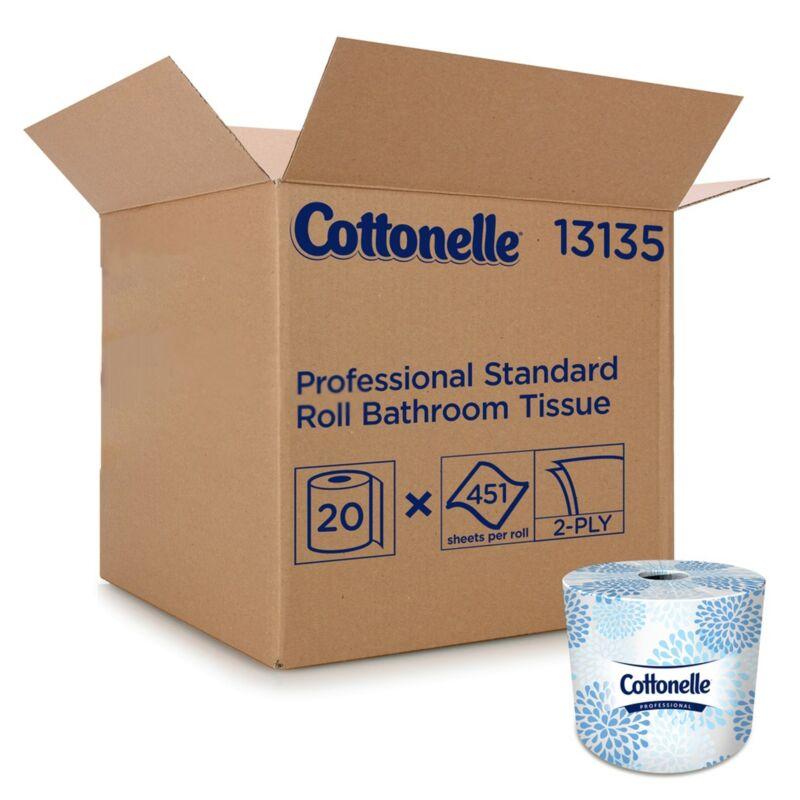 Kleenex Cottonelle Premium 2-Ply Toilet Tissue Paper Rolls White 20 Ct 13135