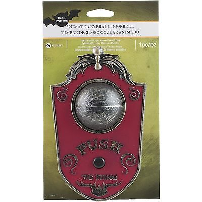 Haunted House Animated Eyeball Doorbell Halloween Prop and Decoration Scary  (Halloween Props And Decorations)