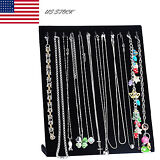 Black Velvet Necklace Chain Jewelry Display Holder Stand Easel Organizer Rack US