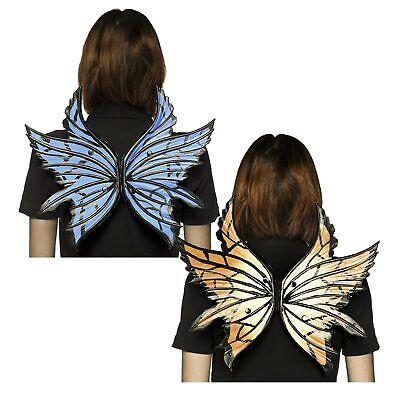 Adult Women's Blue Orange Monarch Butterfly Halloween Costume Accessory Wings - Blue Butterfly Wings Costume