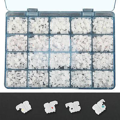 1000pcs Orthodontic Dental Ceramic Braces Bracket 022 Roth 345 Hooks Whole Kit