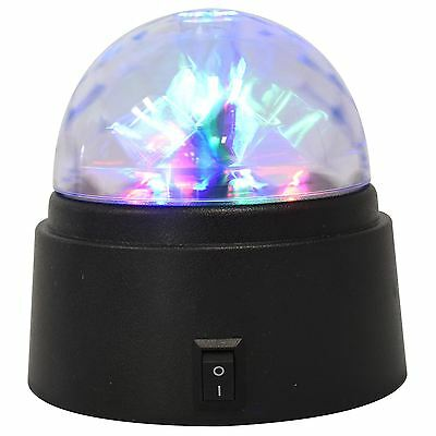 Battery-Power Crystal Star Ball Flashing colour LED Spinning Party Disco Light