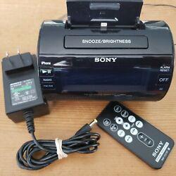 Sony ICF-C11iP AM/FM iPhone iPod Lightning Dock Speaker Radio Alarm Clock Remote